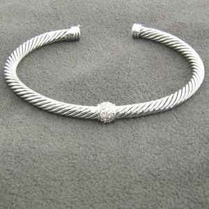 David Yurman 4mm Cable Bracelet with Diamonds